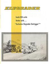Le Tourneau Elegrader Adams Caterpillar Grader Brochure
