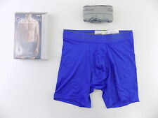 Calvin Klein $65 MICROFIBER Blue SZ S (28-30) MEN 2-PK Boxer Brief UNDERWEAR O16