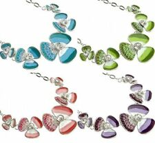 Alloy Round Flowers & Plants Costume Necklaces & Pendants