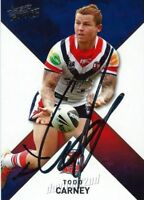 ✺Signed✺ 2011 SYDNEY ROOSTERS NRL Card TODD CARNEY