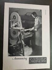 Vintage 1920's Evinrude Outboard Motor SHOP-KING TOOL MACHINE CATALOG Rare! NICE