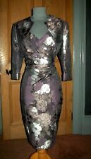 GORGEOUS ALEXON MOTHER OF THE BRIDE/EVENING DRESS AND BOLERO, SIZE 16