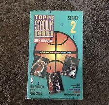 1993-94 Topps Stadium Club Factory Sealed Series 2 Box, Beam Team Cards, Jordan?