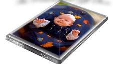 2 x Blank Clear Acrylic Fridge Magnets 64x64mm Photo Frame