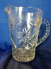 "Vintage Pressed 8"" Tall glass water pitcher"