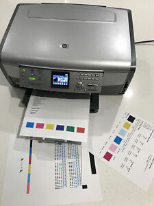 HP Photosmart 3210 All-in-One Inkjet Color Printer Scan Copy Photo Networking