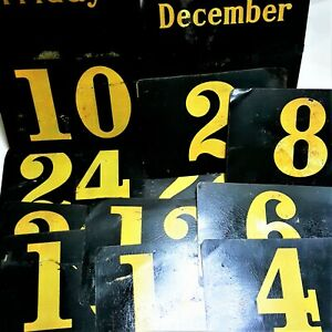 18 Antique General Store Five & Dime Advertising Display Rack Number Tin Signs