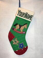ROCKING HORSE CHRISTMAS STOCKING. Aunt Joys Personalized Christmas Stockings USA