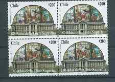 CHILE 2003 SUPREME COURT 180 years vitreaux MNH block of 4