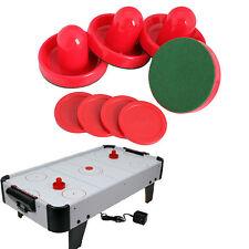 4pcs 96mm Air Hockey Table Goalies with 4pcs 63mm Puck Felt Pusher Mallet Grip