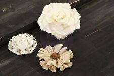 "Prima Flowers -"" Au Naturale"" 3 Gorgeous Paper & Fabric Flowers 562717"