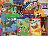 RANDOM LOT 15 Kids YOUNGER K-2 elementary WEATHER SEASONS nonfiction books W102