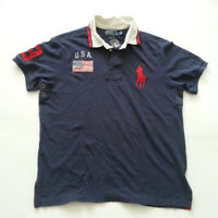POLO Ralph Lauren Men Size L Shirt Navy Blue USA