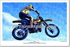 Mike Bell #3 Yamaha 1980 Saddleback Park 12 x 18 Art Photo Vintage Motocross
