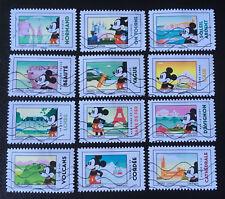 Série complète Timbre 2018 Mickey et la France carnet Nouveautés !