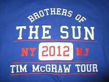 """2012 Tim McGraw """"Brothers of the Sun"""" Concert New York / New Jersey (Lg) Shirt"""