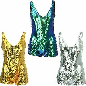 SEQUIN PLAYSUIT ONE PIECE HOT PANTS FESTIVAL CLUB WEAR RAVE PARTY SPARKLY SHORTS