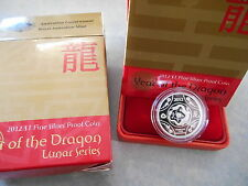 2012 $1 Year of Dragon  Lunar Silver Proof Cat $55 in RAM box of Issue