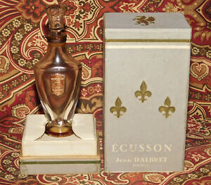 VINTAGE JEAN D'ALBRET ECUSSON PERFUME PARIS 1/2 OZ GLASS PERFUME BOTTLE IN BOX
