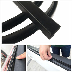 4M Black Car Front Rear Side Door Window Edge Sealed Strip Trim Weatherstrip