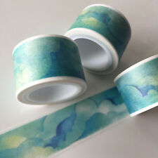 WASHI TAPE WIDE SUNNY BLUE SKIES 25MM X 5MTR CRAFT SCRAP PLANNER WRAP MAIL ART