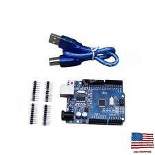New UNO R3 ATmega328P CH340G USB Driver Board & USB Cable For Arduino DIY