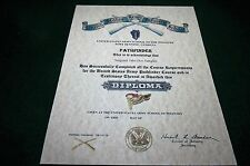 UNITED STATES ARMY PATHFINDER SCHOOL Replacement Certificate