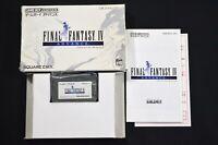 Complete Final Fantasy IV 4 Advance Japanese Nintendo Game Boy Advance GBA