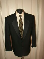 $1999 Valentino Uomo Men Black Wool 2 Butt S/B Tuxedo  43 R Italian