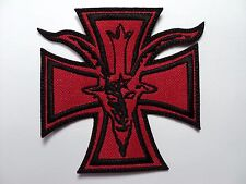 GOAT & IRON CROSS black and red   EMBROIDERED PATCH