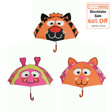 Bright Bots - Animal Umbrella - Orange Tiger | Lime Ladybird | Pink Cat