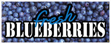 Fresh Blueberries Banner Farm Stand Blueberry Farmers Market Store Sign 36x96