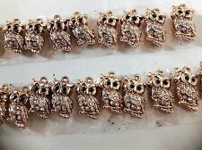 Free Shipping Bulk Wholesale Fashion Jewellery Necklace Pendants Owl 10xpcs