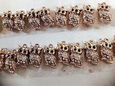 Free Shipping Bulk Wholesale Fashion Jewellery Necklace Pendants Owl 10xpcs