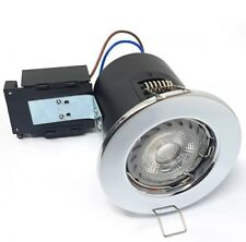 5 x Robus 3.5w LED Fire Rated Downlght - Warm White LED, Chrome Body.