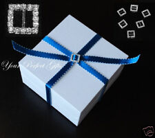 24 SQUARE Rhinestone Buckle Invitation Ribbon Slider