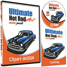 HOT ROD CLIPART-VINYL CUTTER PLOTTER IMAGES-EPS VECTOR CLIP ART CD