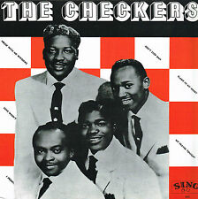 THE CHECKERS sing LP 503_RE of rare KING 1950'S R&B  BLUE VINYL mint perfect
