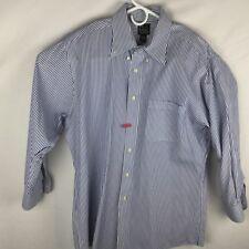 Jos A Bank 16 X 32 Blue Striped 100pc Pinpoint Cotton Shirt