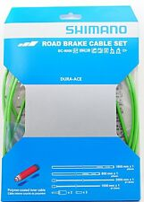 Shimano Dura Ace BC-9000 Road Polymer Brake Cable Set w/ FREE End Cap x2, Green
