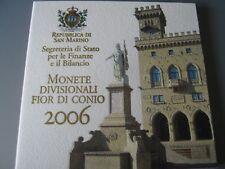 Coffret BU Sain-Marin 9 pièces avec 5€ Argent 2006