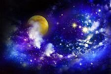 Dark Night Sky Stars Moon Clouds Wall Mural Photo Wallpaper GIANT WALL DECOR