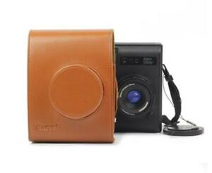 Leather Camera Case Bag For Lomography Lomo' Instant Automat Brown