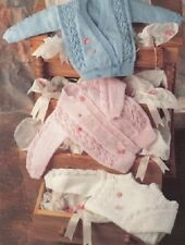 Baby knitting pattern Cardigans & Sweater 3 Ply Birth to 12 Months