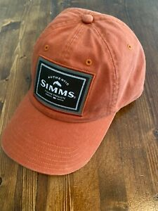 NWT Simms Fishing Single Haul Cap, Simms Orange Color, OSFA Fishing Ball Cap