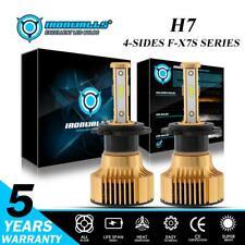 360° 4sides H7 COB LED Headlight Conversion Kit Hi/lo Beams 2500W 375000LM 6000K