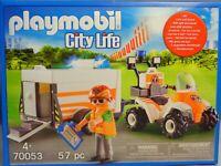 Playmobil 70053 Quad mit Rettungsanhänger mit Licht und Sound Zubehör B-Ware NEU