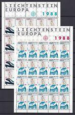 Liechtenstein  1988 postfri Bogen MiNr. 937-938 Transport- Kommunikationsmittel