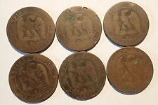 PIECE - lot 6 pieces 10 centimes NAPOLEON (5193J)
