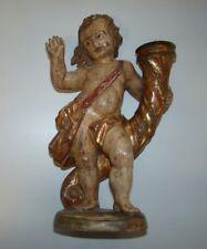 Alter Barock Leuchter Engel Holz geschnitzt um 1900